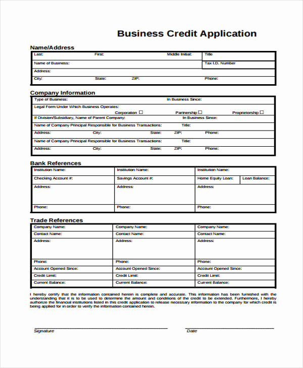 Credit Application form Pdf Beautiful 32 Credit Application forms In Pdf