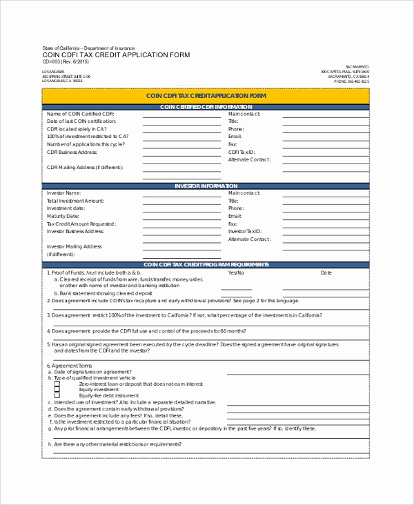 Credit Application form Pdf Unique Sample Credit Application form 8 Documents In Pdf Word