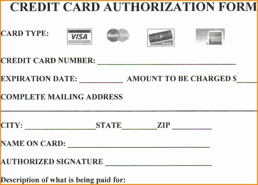 Credit Card Authorization form Pdf Awesome 25 Credit Card Authorization form Template Free Download
