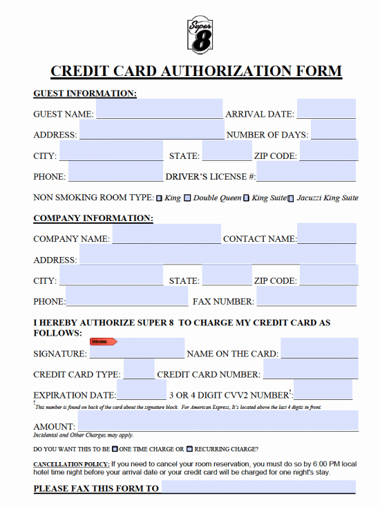 Credit Card Authorization form Pdf Beautiful 10 Credit Card Authorization form Template Free Download