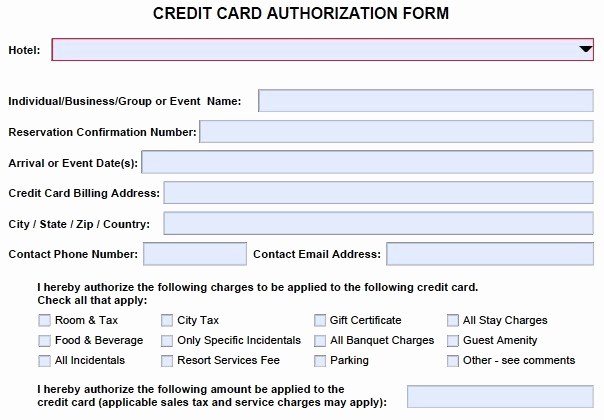Credit Card Authorization form Pdf Best Of 10 Credit Card Authorization form Template Free Download