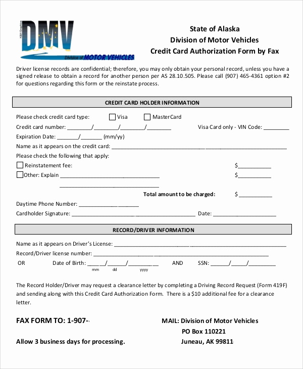 Credit Card Authorization form Pdf Luxury Credit Card Authorization form Sample 8 Examples In