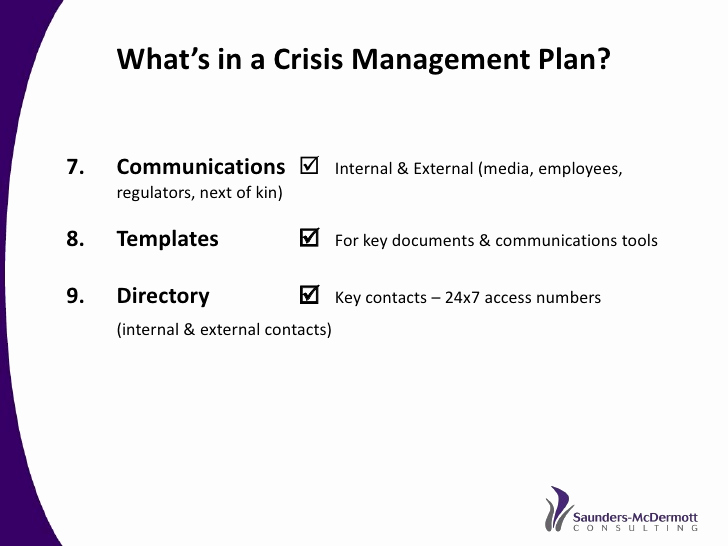 Crisis Communication Plan Template Elegant Best Practice Crisis and issues Management A Re Mended