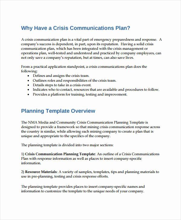 Crisis Communication Plan Template Fresh Free Munication Plan Templates 37 Free Word Pdf