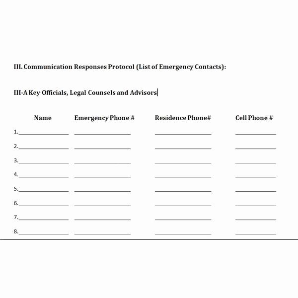 Crisis Management Plan Template Elegant Free Downloadable Template A Plan for Crisis Management