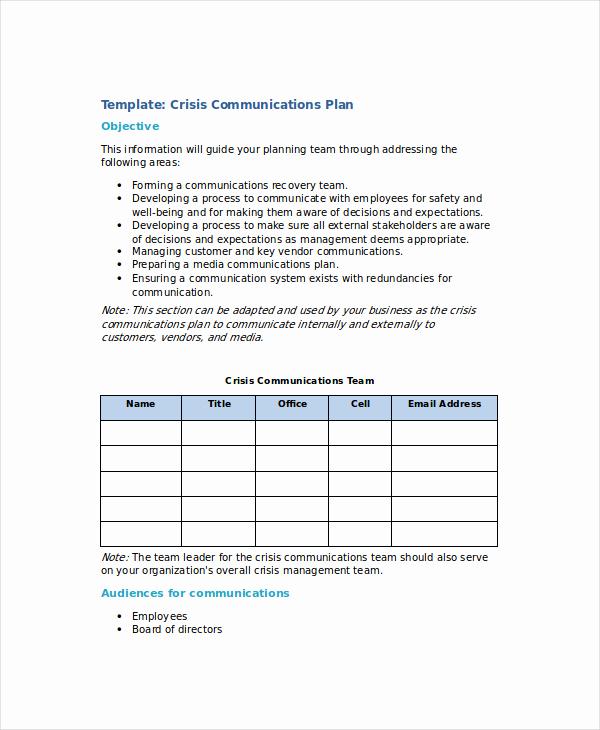 Crisis Management Plan Template New Crisis Management Plan Template