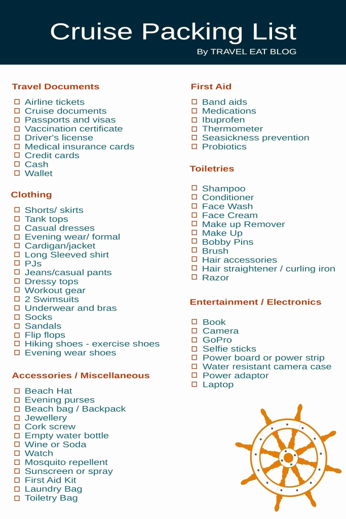 Cruise Packing List Pdf Beautiful Cruise Packing List What to Pack for A Cruise Travel
