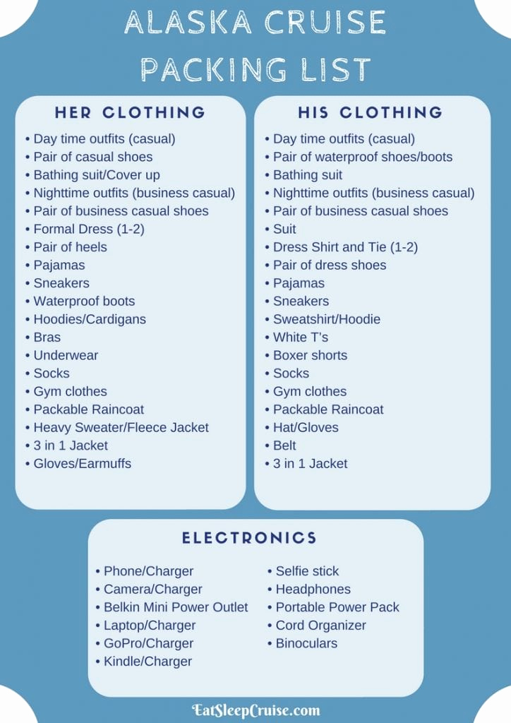 Cruise Packing List Pdf New What to Pack for An Alaskan Cruise 2018 Edition
