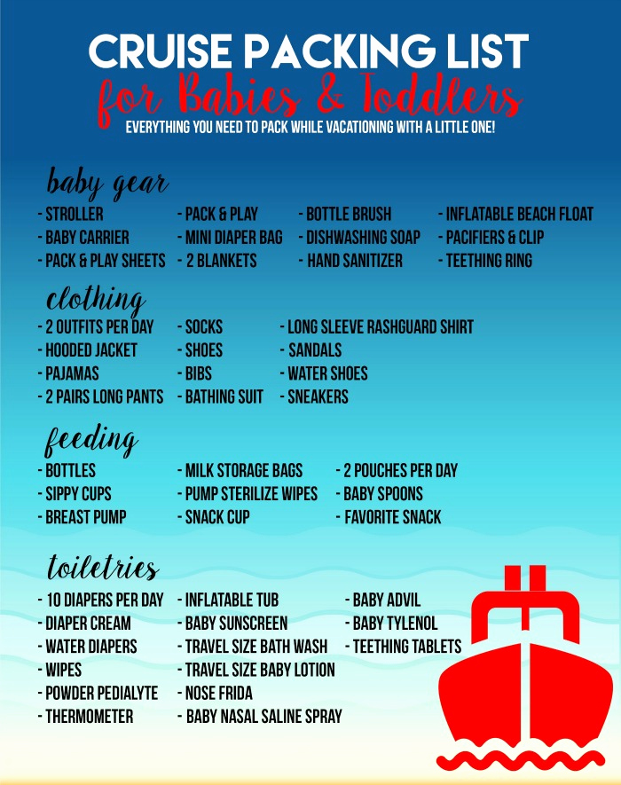 Cruise Packing List Pdf Unique Cruise Packing List for Babies & toddlers Sew Woodsy