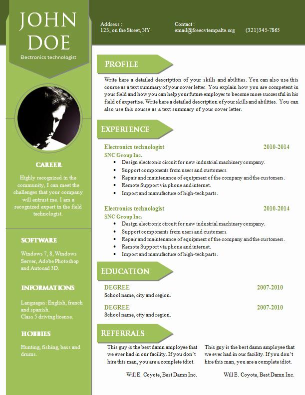 Curriculum Vitae Sample format Fresh Curriculum Vitae Resume Word Template 904 – 910 – Free Cv