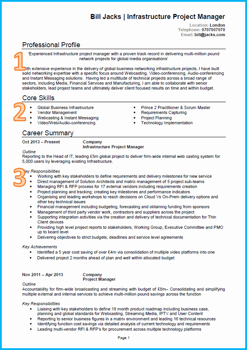 Curriculum Vitae Sample format Fresh Example Of A Good Cv 13 Winning Cvs [get Noticed]