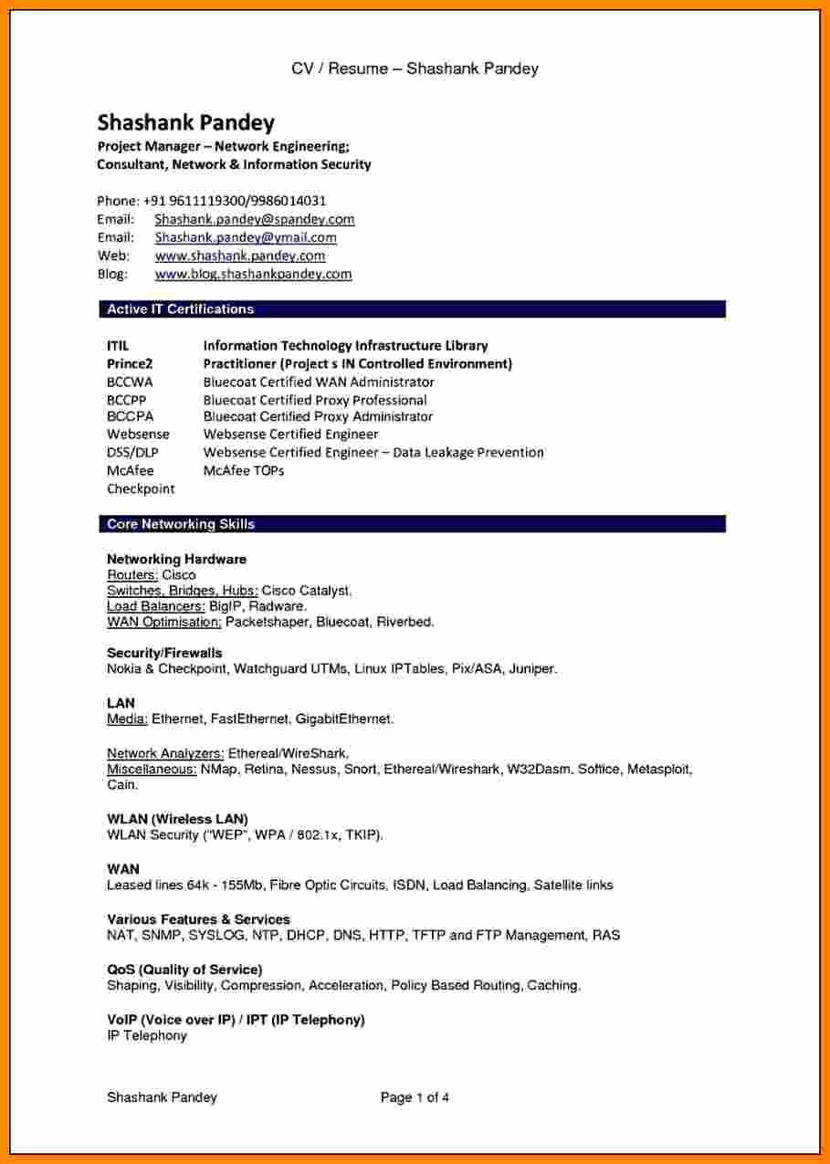 Curriculum Vitae Sample format Lovely 7 Cv Resume Sample Pdf