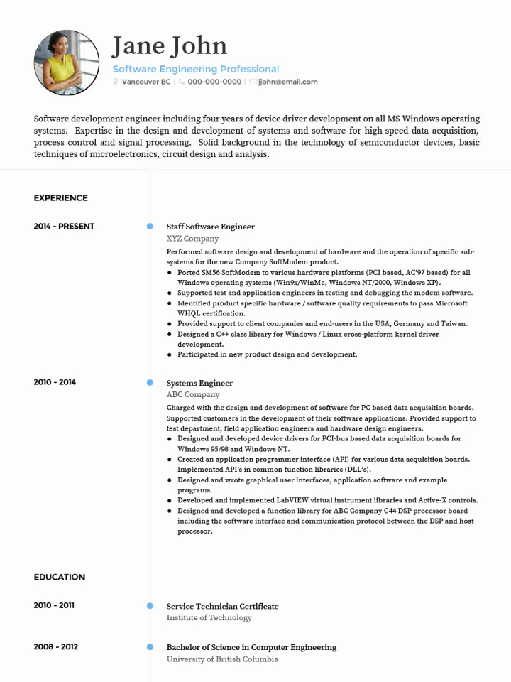 Curriculum Vitae Sample format Unique Cv Templates 20 Options to Improve Your Cv