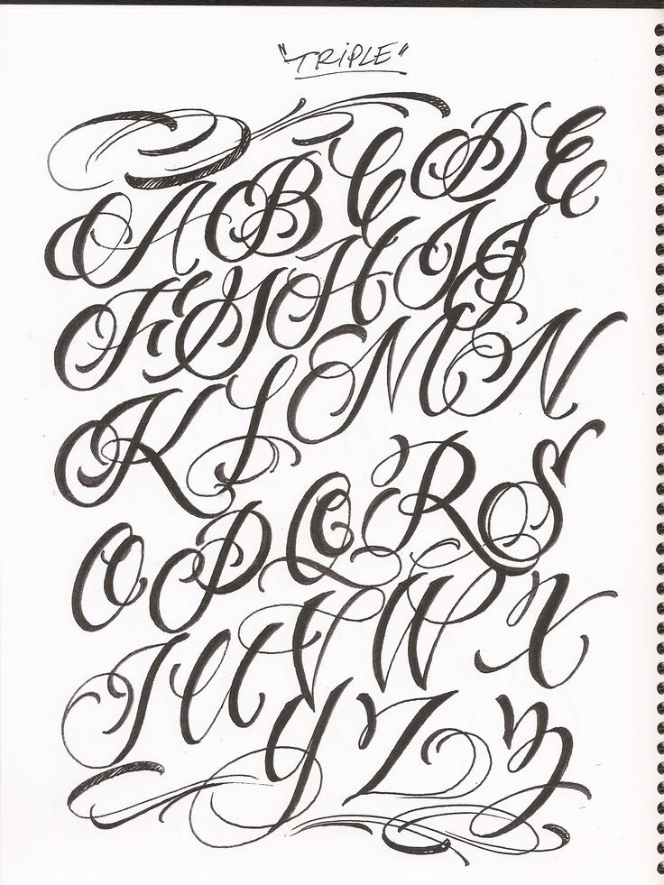 tattoo fonts alphabet