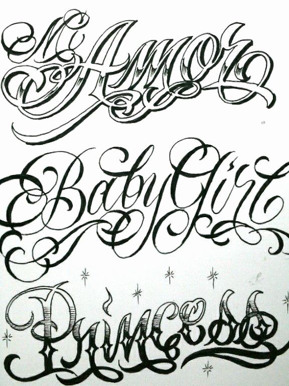 Cursive Fonts for Tattoos Elegant Letras Tibu Pinterest