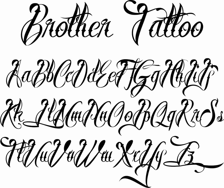 Cursive Fonts for Tattoos Fresh Fonts for Tattoos