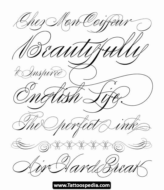 Cursive Fonts for Tattoos New Tattoo Cursive Fonts 07 Tattoo Cursive Fonts 07