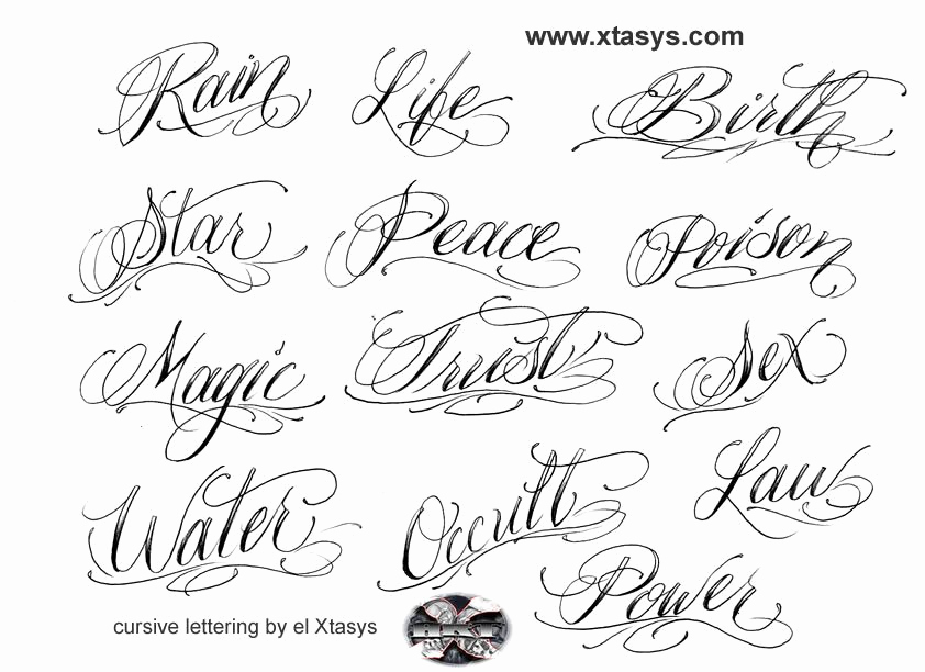 Cursive Fonts for Tattoos New Tattoo Lettering by Azw80