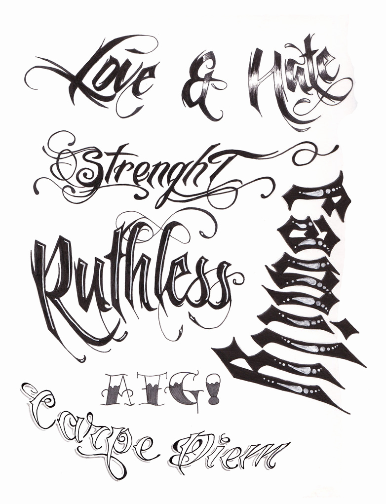 Cursive Fonts for Tattoos Unique Tattoo Script by A T G 4 On Deviantart