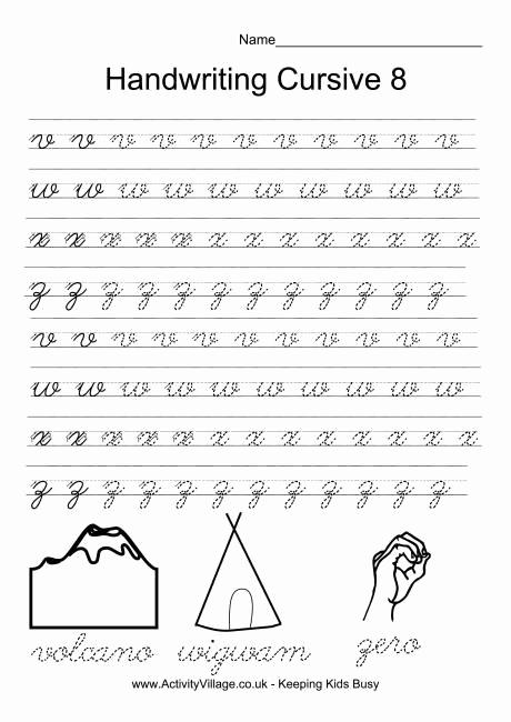 Cursive Handwriting Practice Pdf Beautiful Handwriting Practice Cursive 8