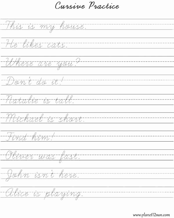 30 Cursive Handwriting Practice Pdf | Tate Publishing News