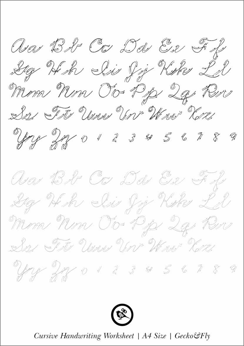 Cursive Handwriting Practice Pdf Lovely 5 Printable Cursive Handwriting Worksheets for Beautiful