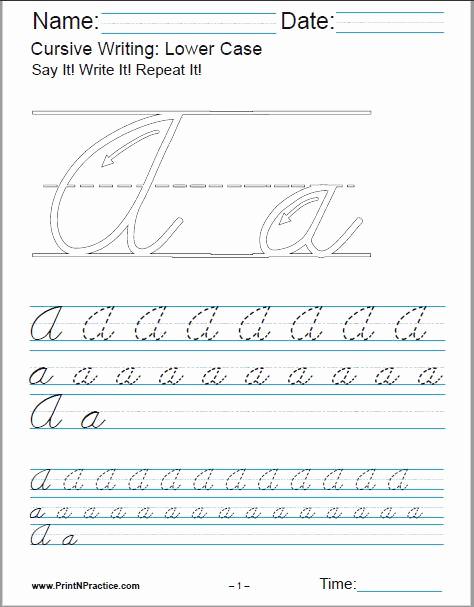 Cursive Handwriting Practice Pdf Lovely 50 Cursive Writing Worksheets ⭐ Alphabet Sentences Advanced
