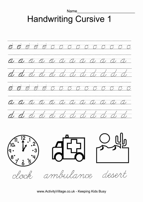 Cursive Handwriting Practice Pdf New 13 Best Of Beginning Sentences Worksheets