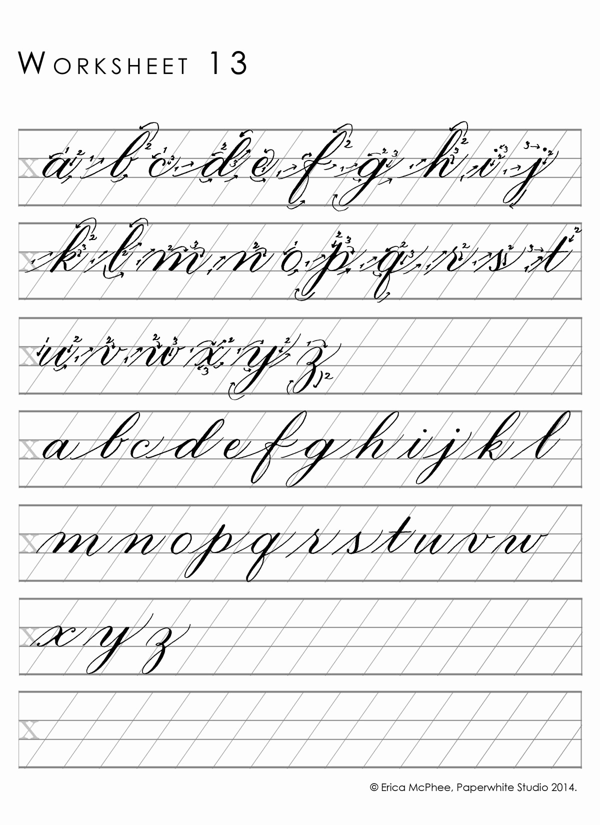 Cursive Writing Practice Pdf Beautiful Great Worksheets for Copperplate