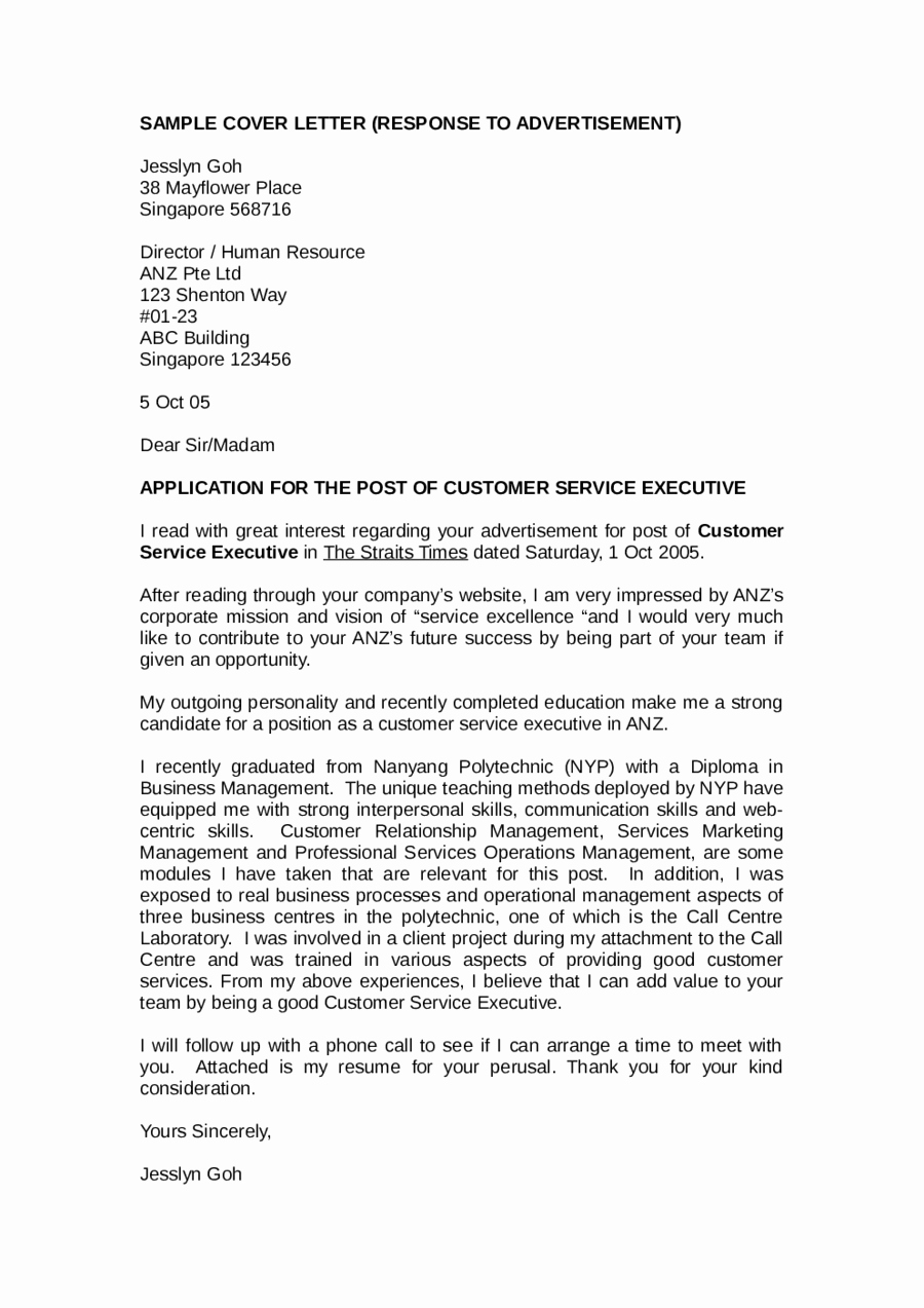 Customer Service Cover Letter Examples Fresh 2019 Customer Service Cover Letter Fillable Printable