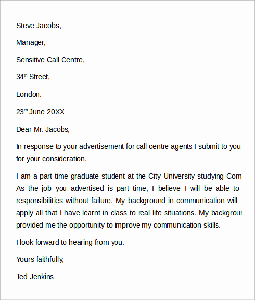 Customer Service Cover Letter Examples Lovely 12 Cover Letter Examples – Pdf Word