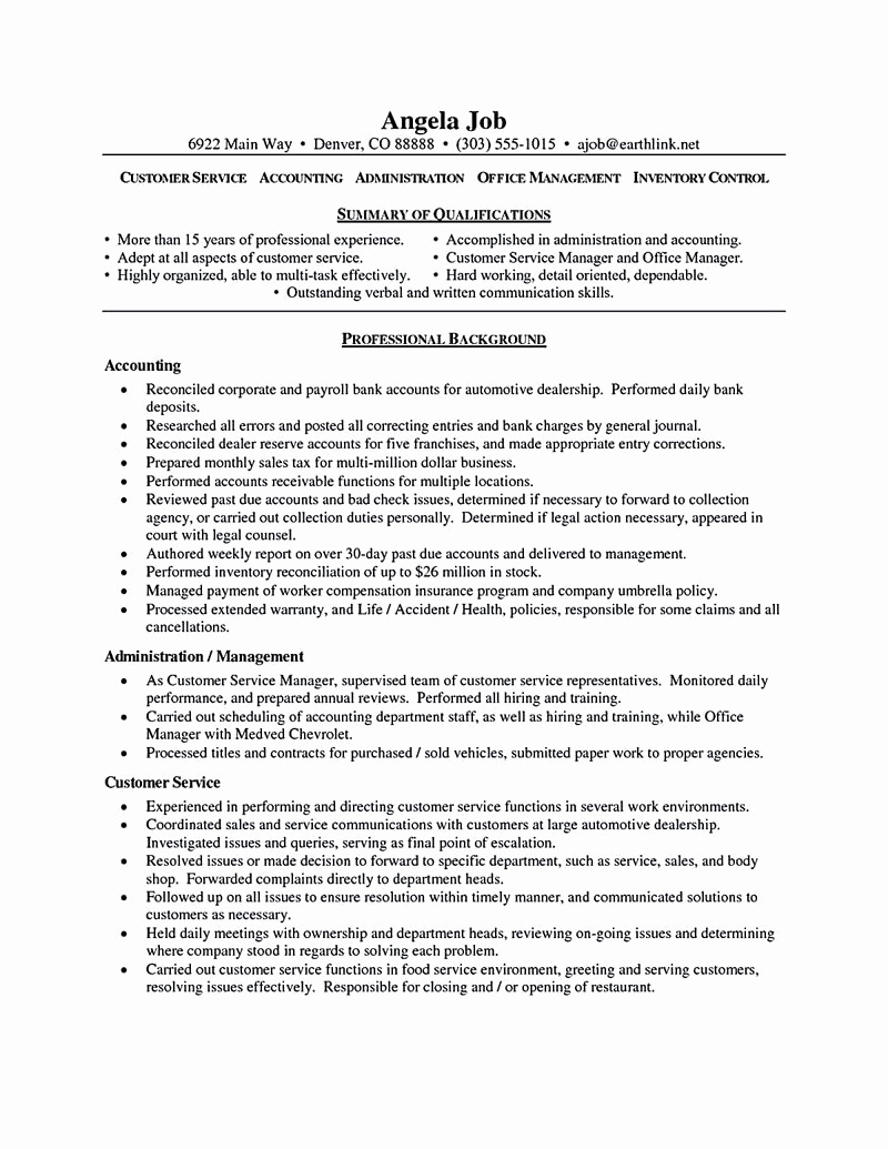 Customer Service Resume Samples Free Awesome Customer Service Resume Consists Of Main Points Such as