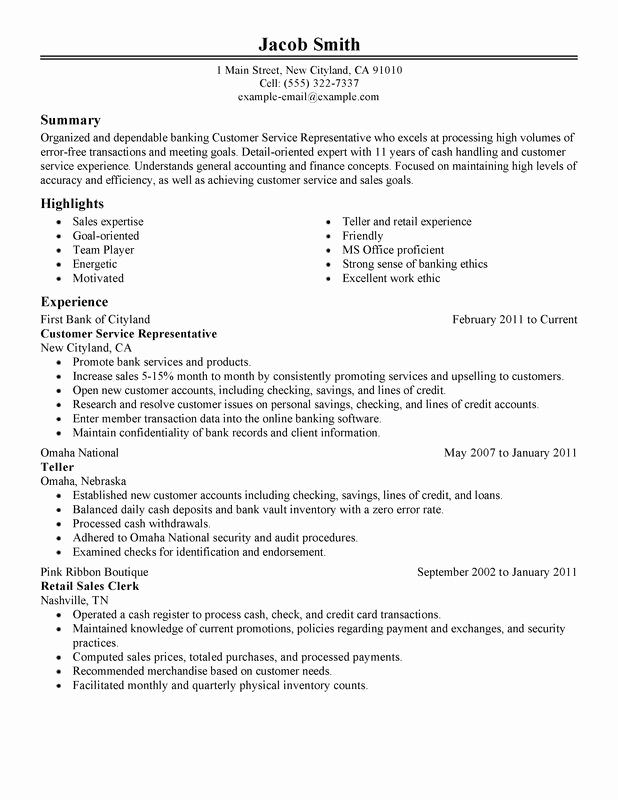 Customer Service Resume Samples Free Inspirational Customer Service Agent Resume Sample