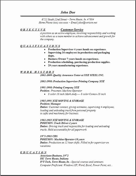 Customer Service Resume Samples Free Inspirational Customer Service Resume Occupational Examples Samples