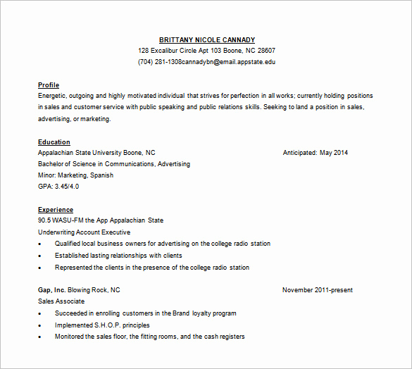 Customer Service Resume Samples Free New 10 Customer Service Resume Templates Doc Pdf Excel