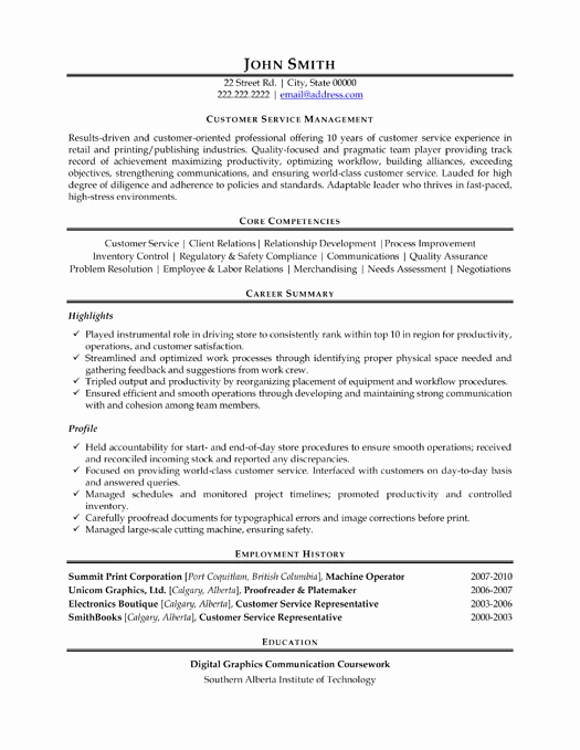 Customer Service Resume Template Awesome top Customer Service Resume Templates & Samples