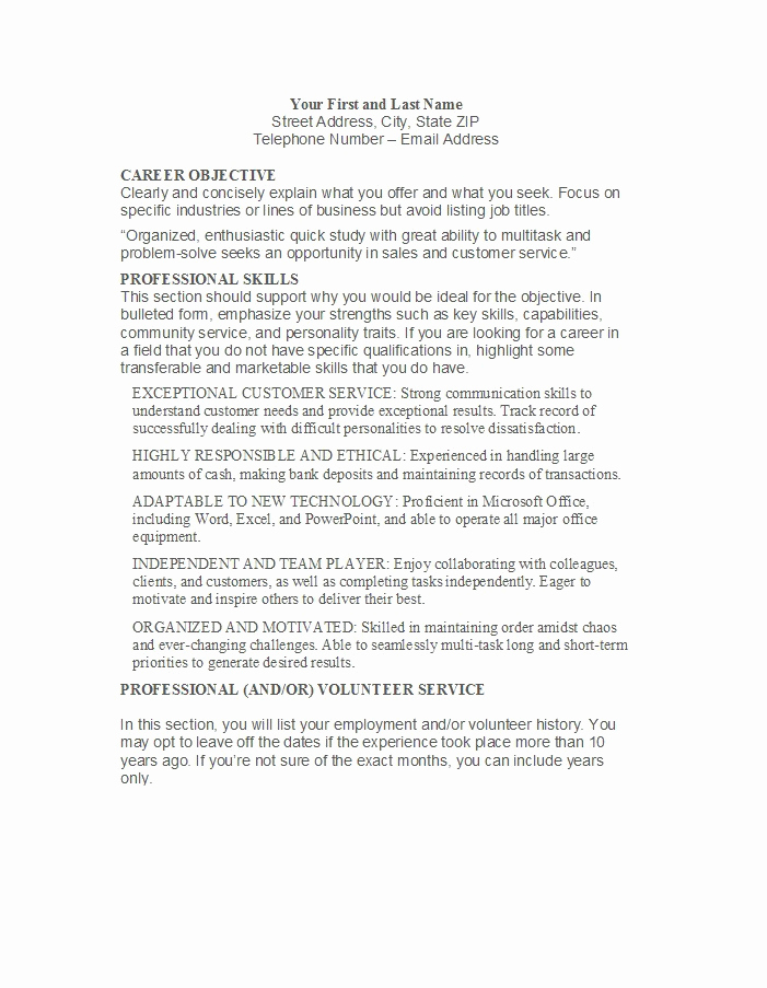 Customer Service Resume Template Best Of 31 Free Customer Service Resume Examples Free Template