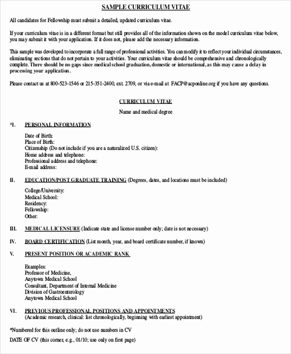 Cv Examples for Students Inspirational Medical Student Cv Sample 7 Examples In Word Pdf