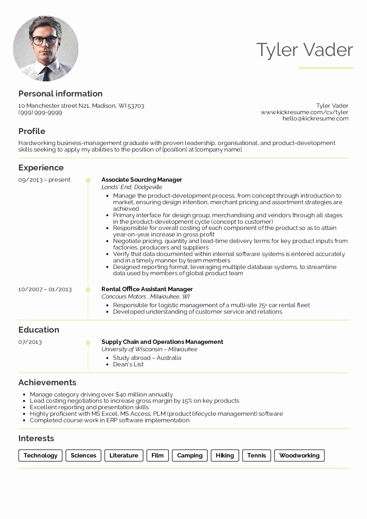 Cv Examples for Students Inspirational Resume Examples by Real People Business Management