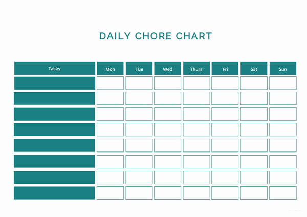 Daily Chore Chart Template Fresh Chart Template 61 Free Printable Word Excel Pdf Ppt