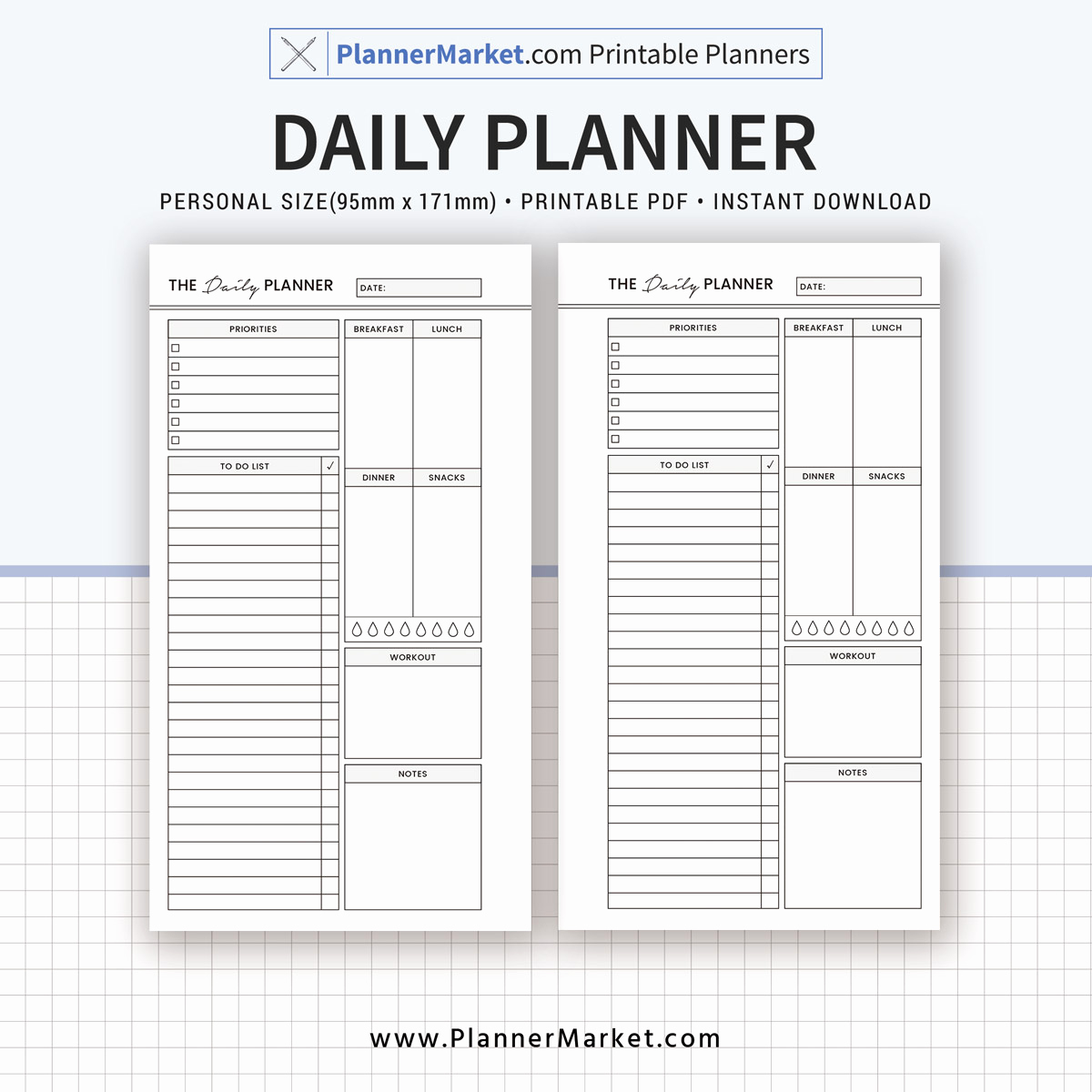 Daily Planner Printable Pdf Best Of Daily Planner 2019 Planner Personal Size Inserts
