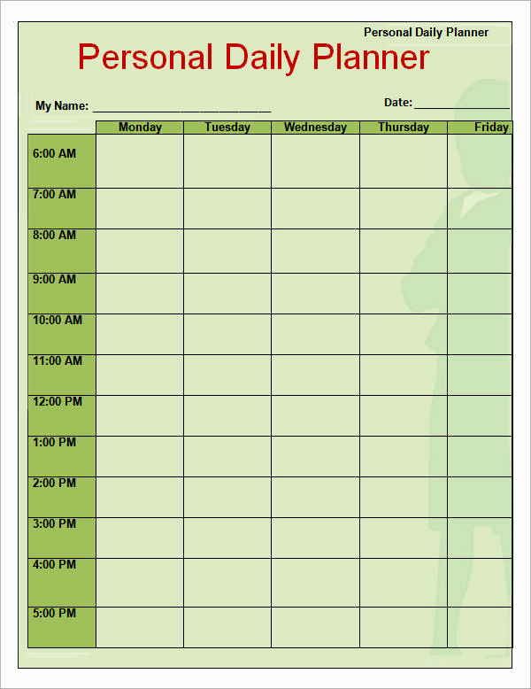 Daily Planner Printable Pdf Luxury Daily Planner Template 9 Download Documents In Pdf Word