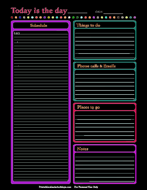 Daily Planner Printable Pdf New Daily Planner Template Free Printable Daily Planner for