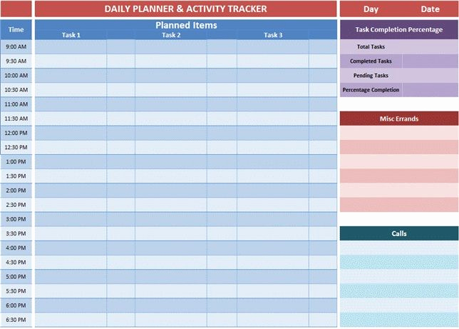 Daily Planner Template Excel Lovely Excel Planner Templates Gives An Overview Of the Tasks You