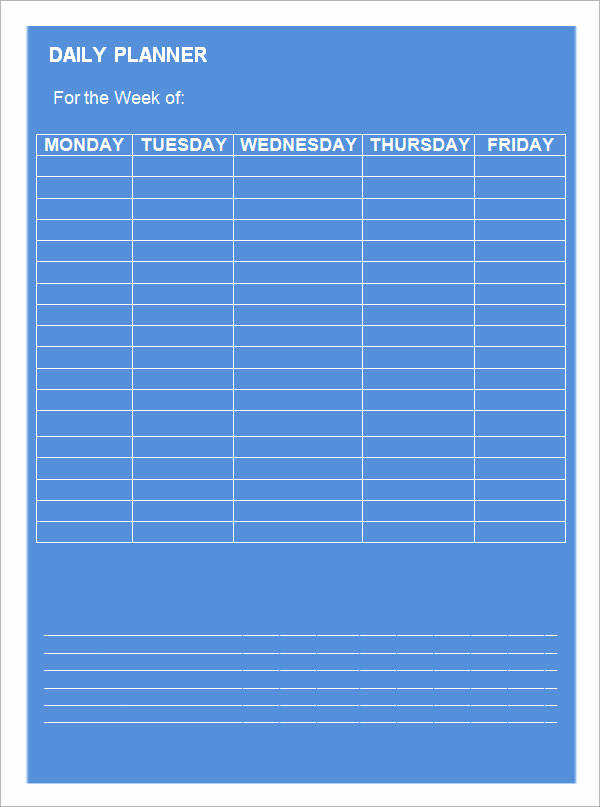 Daily Planner Template Word Best Of Daily Planner Template 9 Download Documents In Pdf Word