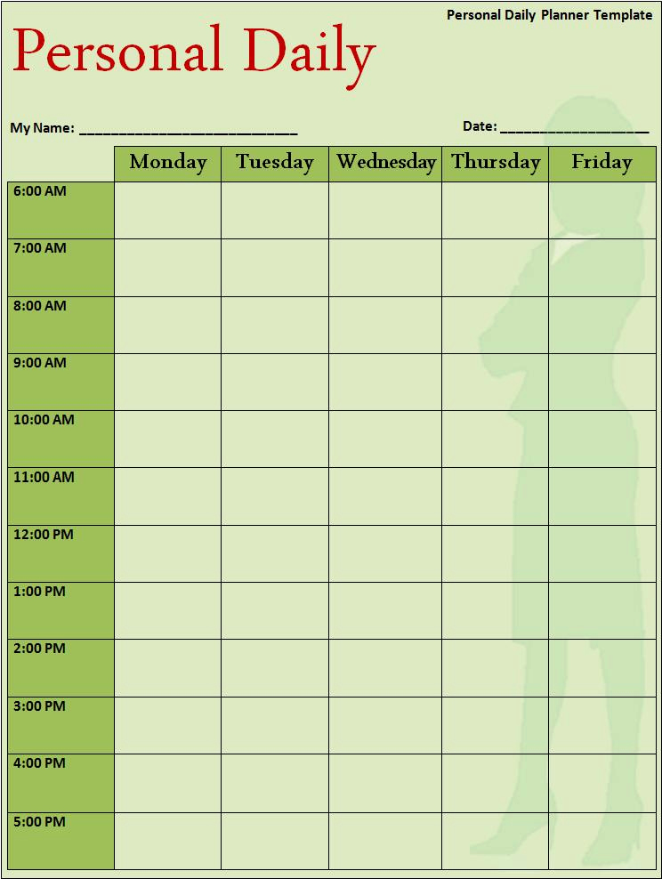 Daily Planner Template Word Best Of Daily Planner Template