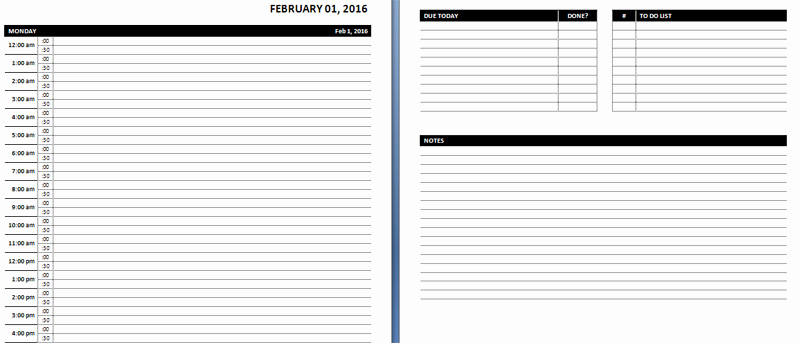 Daily Planner Template Word Lovely Enote Daily Planner Template