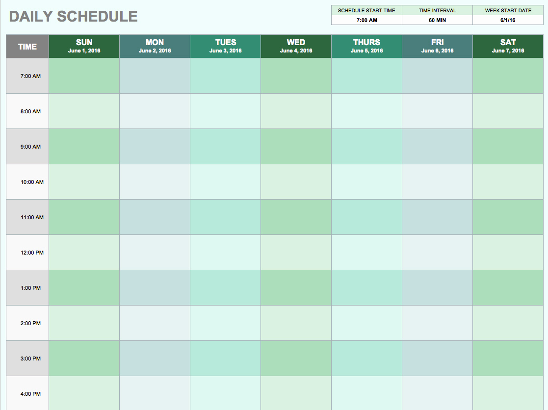 Daily Schedule Template Excel Beautiful Free Daily Schedule Templates for Excel Smartsheet