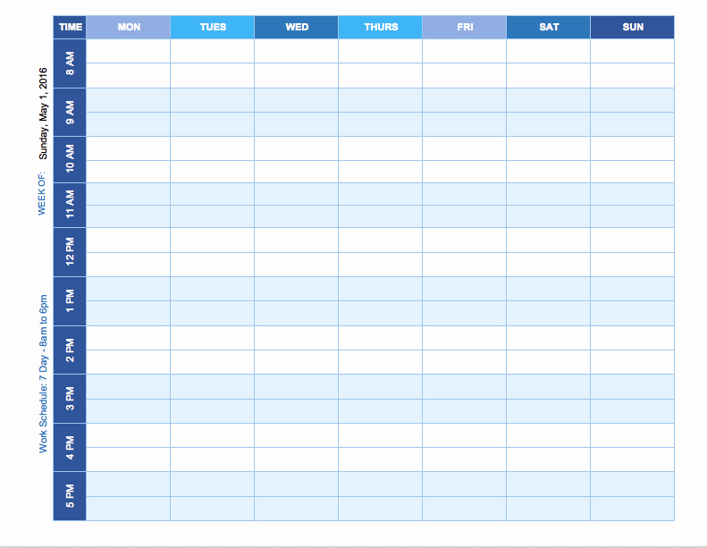 Daily Schedule Template Excel Best Of Free Weekly Schedule Templates for Excel Smartsheet