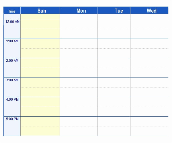 Daily Schedule Template Excel Luxury Sample Weekend Schedule 6 Documents In Word Pdf